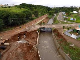 Imagens feitas por drone mostram destruição após chuva em São Carlos