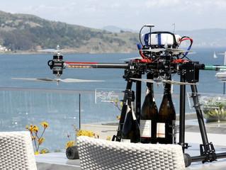 Hotel na Califórnia faz entrega de espumantes com drones