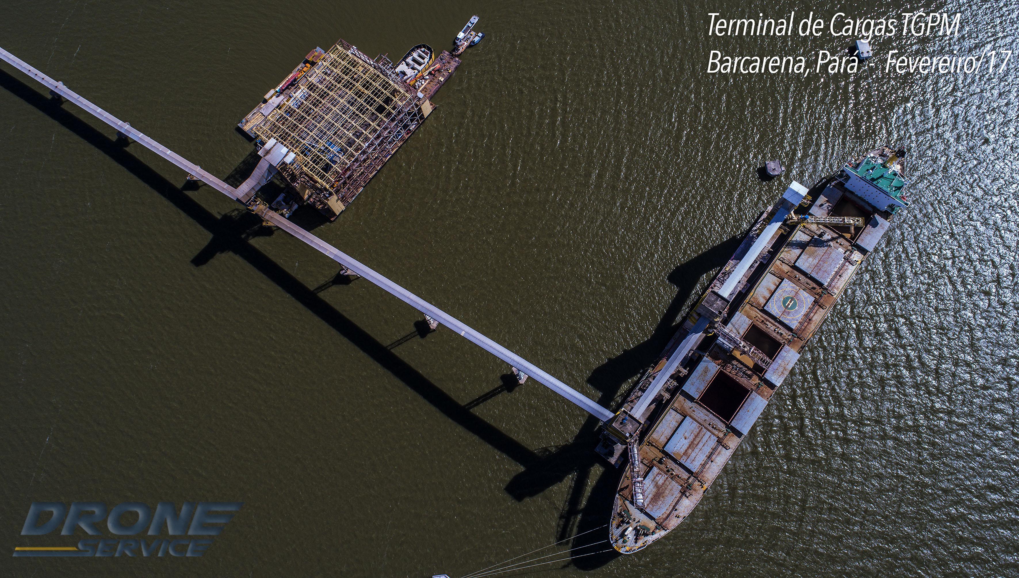 Fotos com drone - Terminal de Cargas
