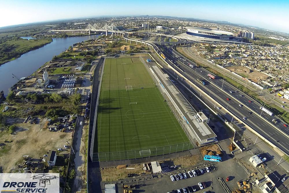 Foto com Drone: Novo CT do Grêmio