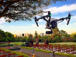 Casamentos com drone