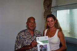 Petra and Minister of Environment Tahiti. George Handerson.jpg