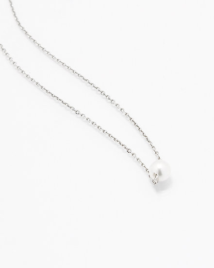 SMALL ROUND PEARL NECKLACE (925 SILVER)