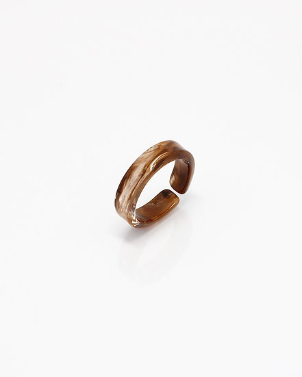 BROWN MARBLE RING