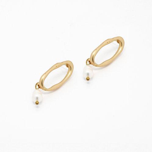 Ring Pearl Drop Earrings