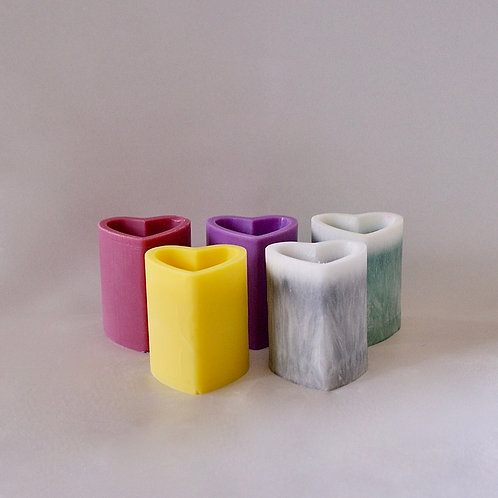 Mini Heart Candles (5 set)