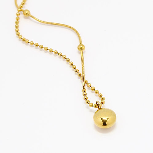 Lucky Round Ball Necklace 18/14K