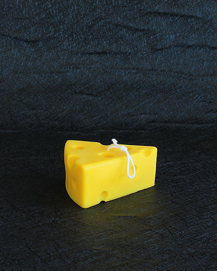 PIECE OF CHEESE CANDLE (YELLOW)