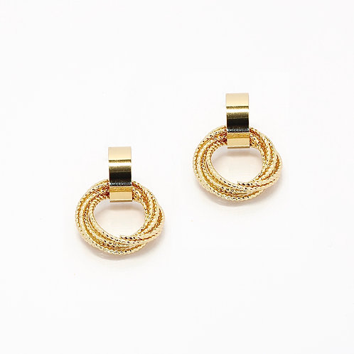 Round Multi-chain Drop Earrings