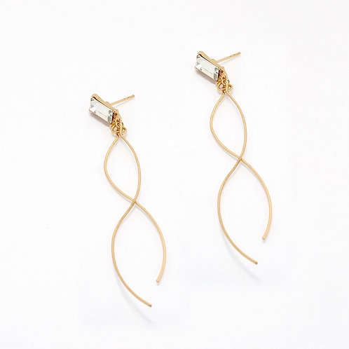 Crossover Drop Earrings
