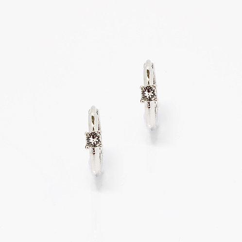 Mini Cubic Hoop Earrings