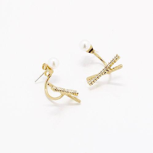 X-Pearl Drop Earrings