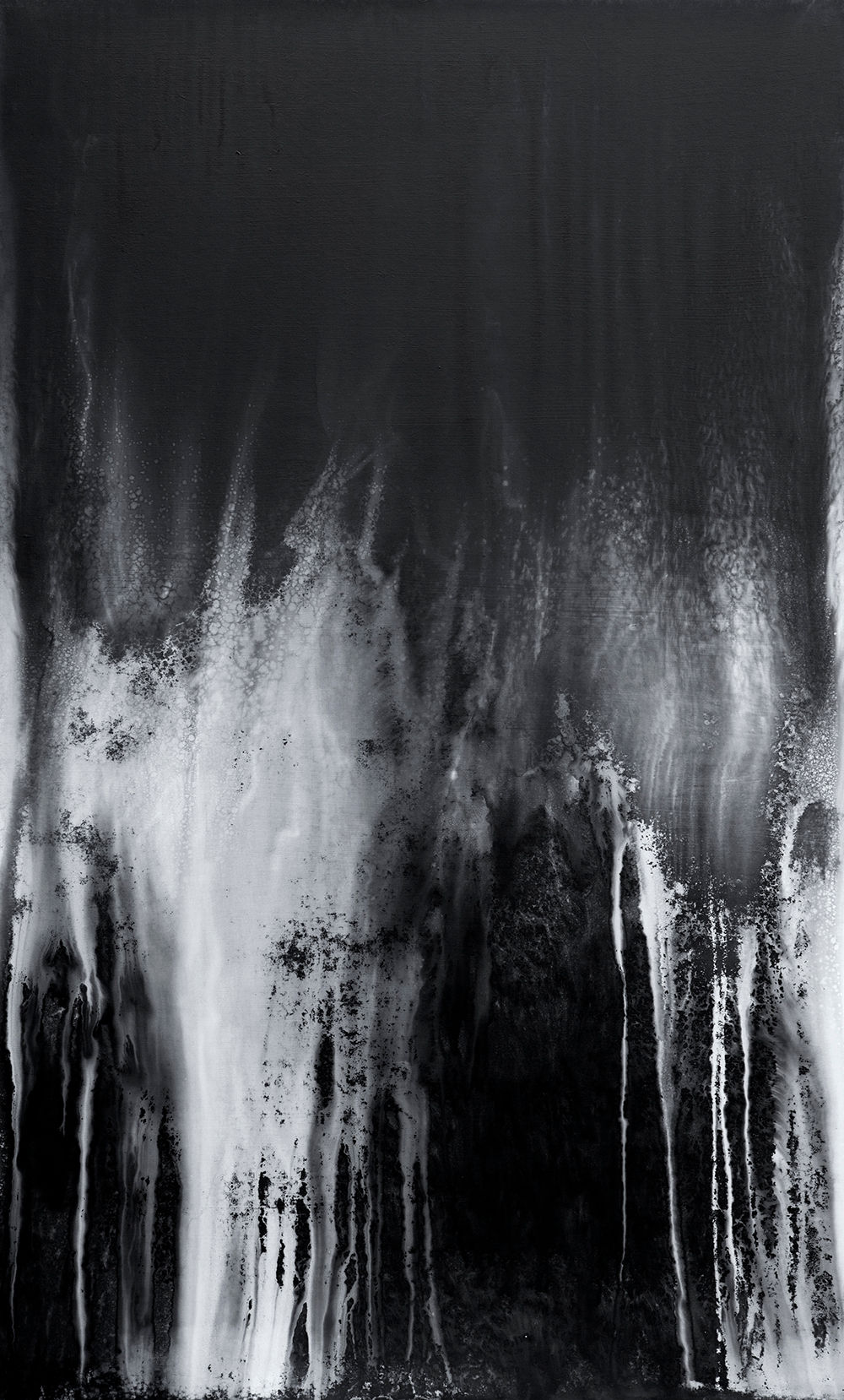 Waterscape 1311, 164x100cm, Graphite, sumi-ink, water-drawing on Mulberry paper, 2013
