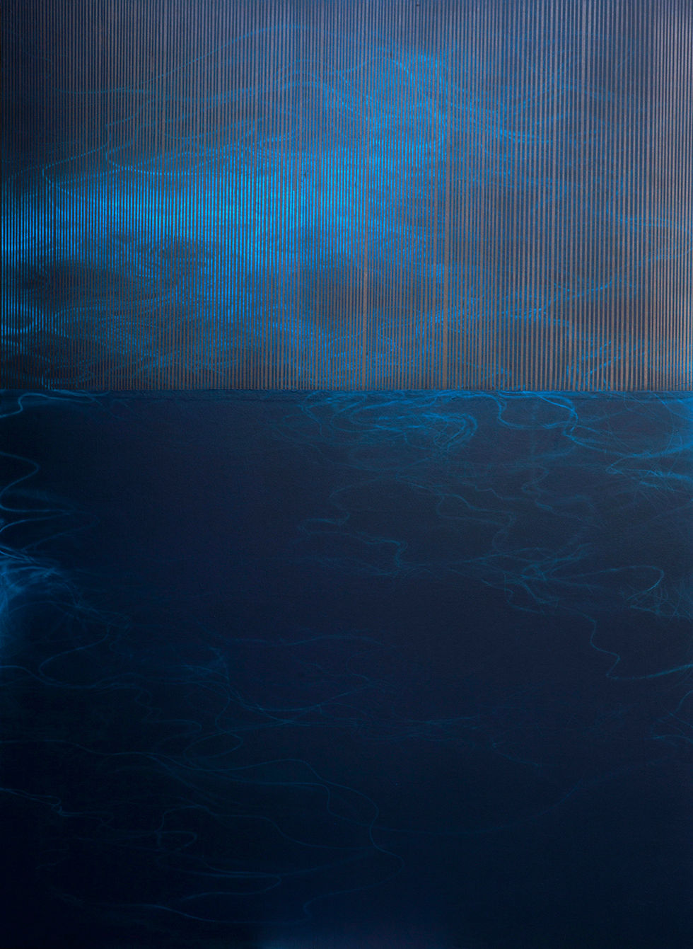 Waterscape 1303, 244x180cm, Graphite, acrylic, water-drawing on Mulberry paper, 2013