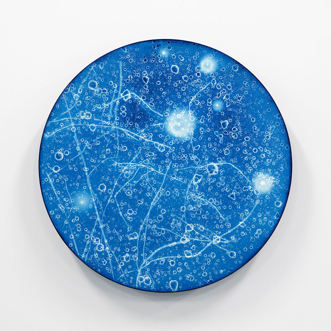 WATERSCAPE_ur sprung 1934, Diameter 50cm, Traditional pigment, water-print, water-drawing on canvas, 2019