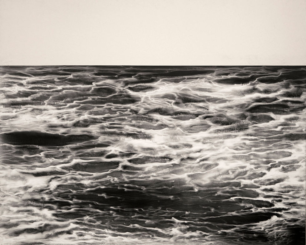 MæSS_mulgyeul 1201, 132x160cm, Graphite, wind-drawing on Mulberry paper, 2012