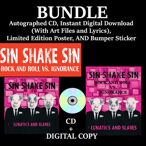 Bundle - Autographed CD + DIGITAL, Limited Edition POSTER, and Bumper Sticker