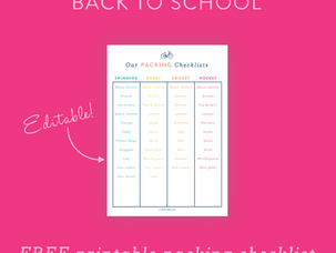 Back to school: kids' packing lists