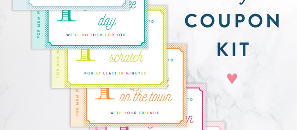 Mother's Day Gift Idea: DIY Coupon Kit