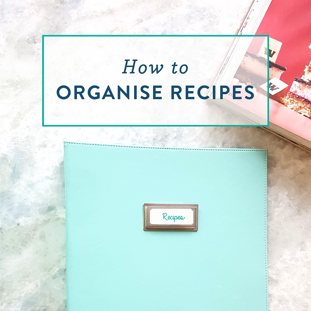 How to sort your recipes