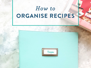 How to organise your recipes {and some free printables}