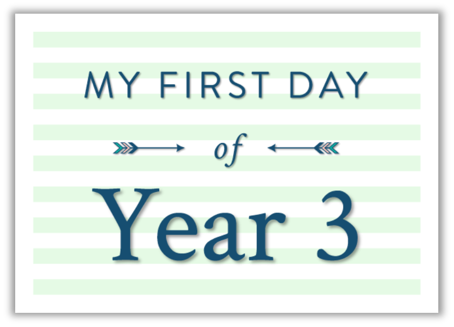 My first day at school printable photo sign green