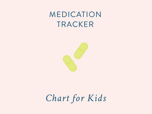 Tracking your children's medication {and a free printable}