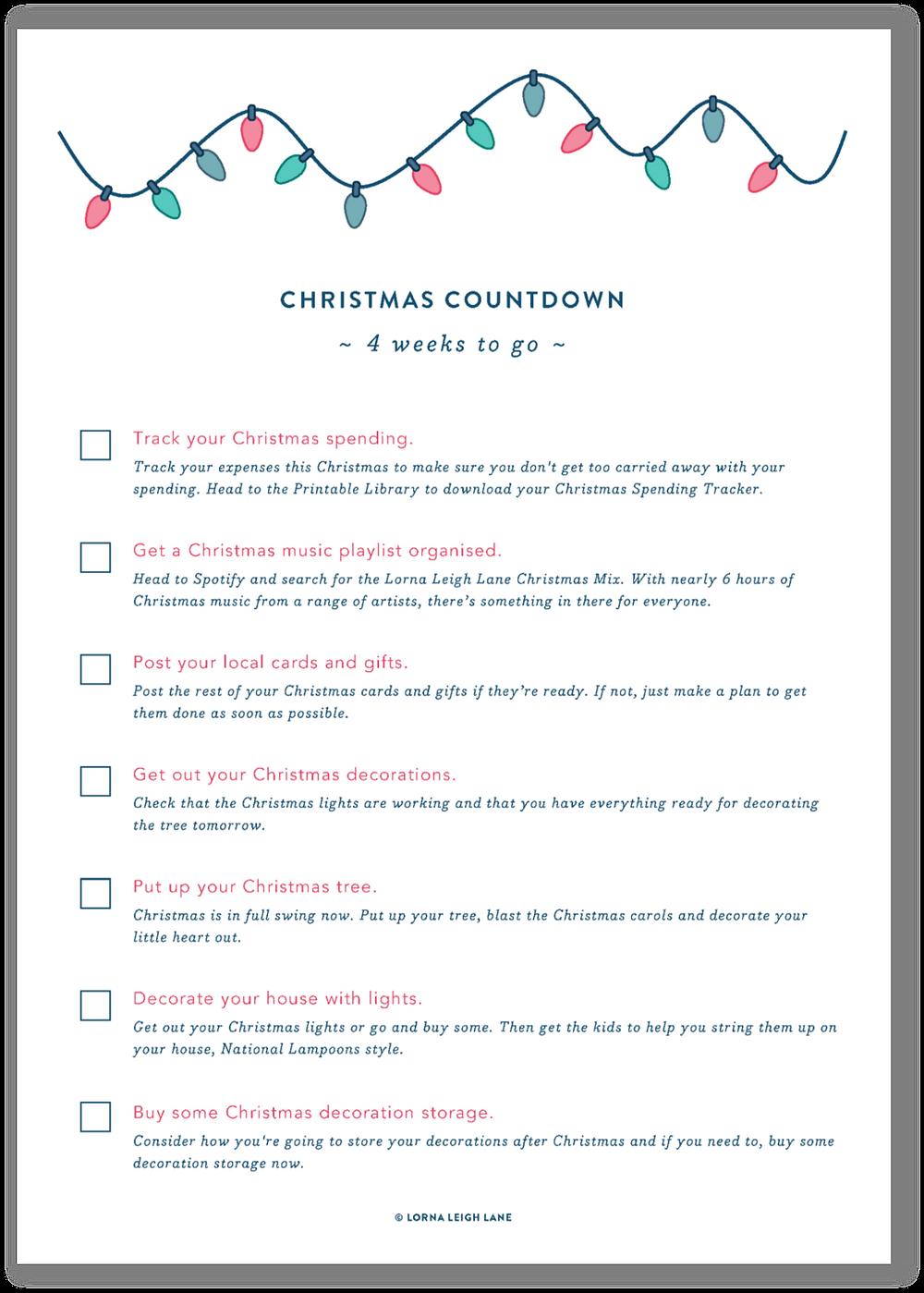 Christmas Countdown - 5 weeks to go