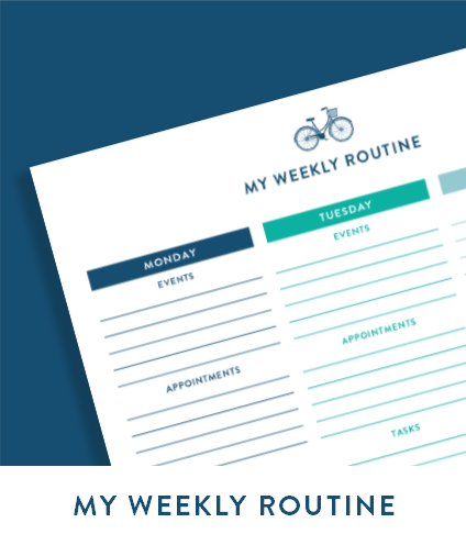 My Weekly Routine free printable
