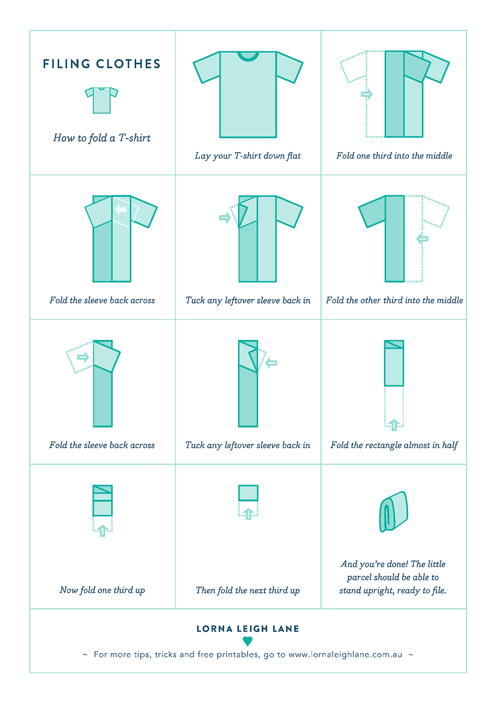 How to fold T-shirts like Marie Kondo