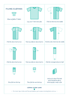 Filing clothes: how to fold T-shirts like Marie Kondo