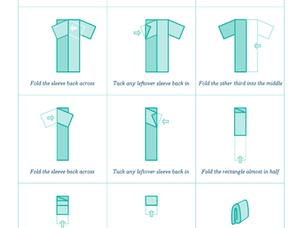 Filing clothes: how to fold T-shirts like Marie Kondo