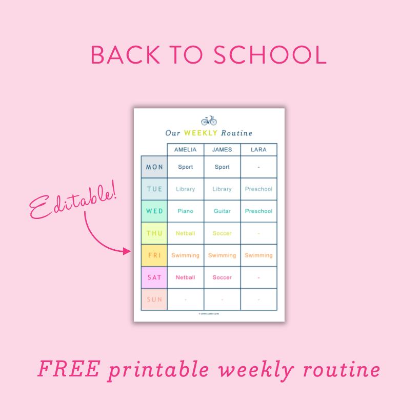 Free printable editable kids morning routine chart