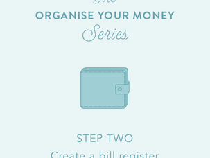 Organise your money: Day 2 - create a bill register