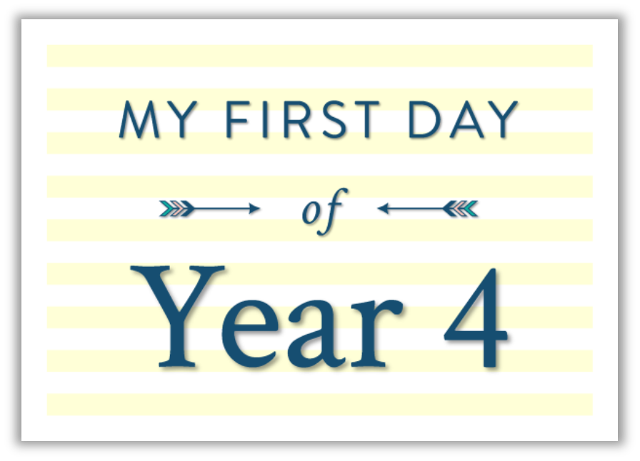My first day at school printable photo sign yellow
