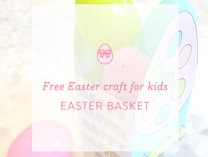 Easter Activity: Easter basket craft for kids