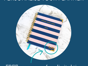 Free monogramming for your new planner!