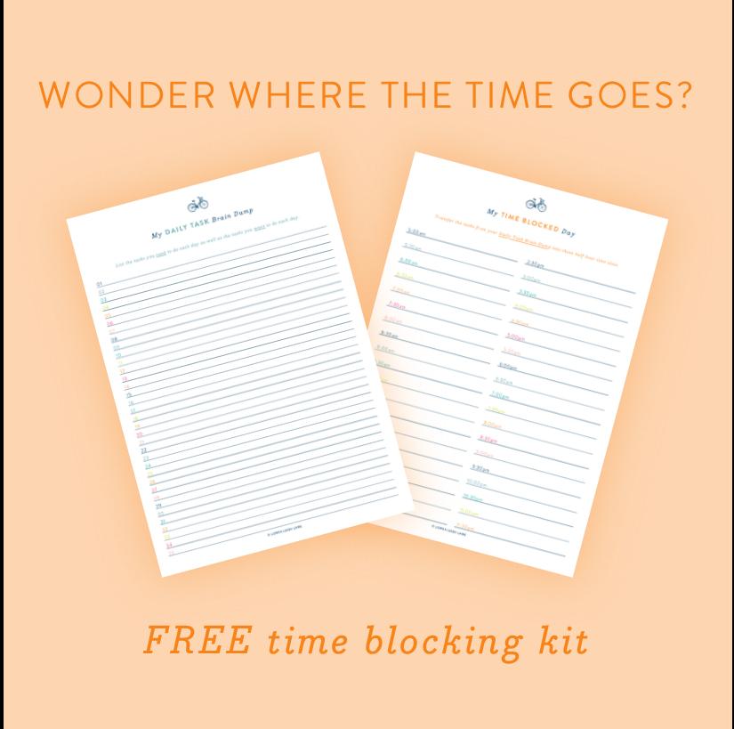 Free time blocking kit for mums