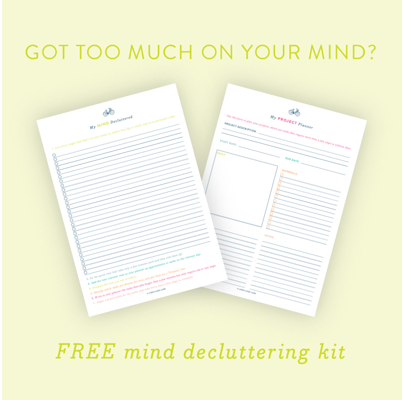 Free printable declutter your mind kit