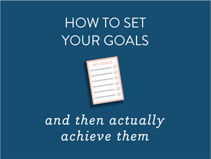 How to set your goals {and a free printable}