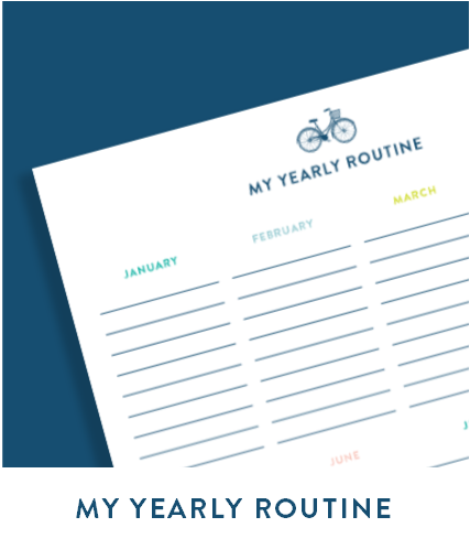 My Yearly Routine free printable