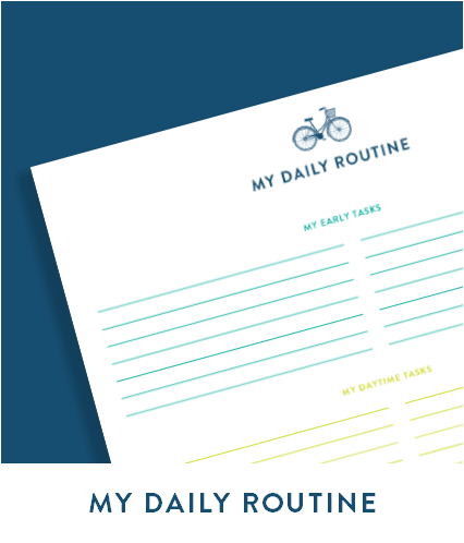 My Daily Routine free printable