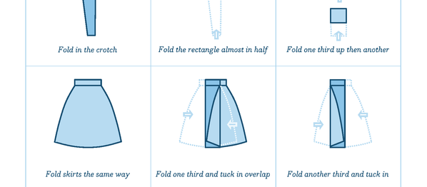 Filing clothes: how to fold jeans like Marie Kondo