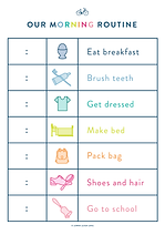 Morning Routine Chart for Kids EMPTY A4.