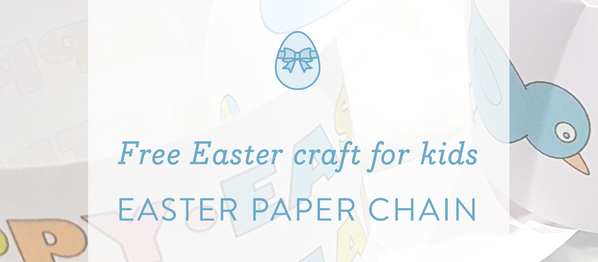 Easter Activity: Easter paper chain craft for kids