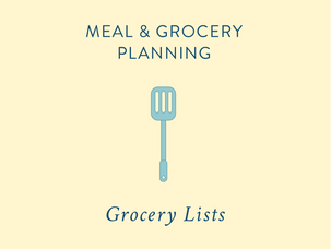 Meal & Grocery Planning: writing grocery lists {and a free printable}