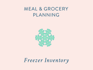 Meal & Grocery Planning: tracking your freezer contents {and a free printable}
