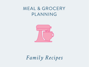 Meal & Grocery Planning: organising your family favourite recipes {and a free printable}