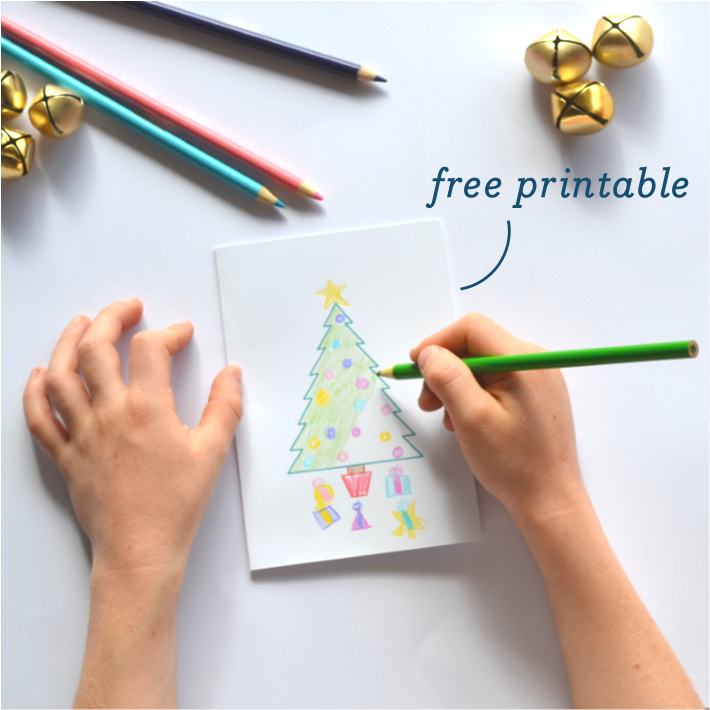 Free printable Christmas Card for Kids