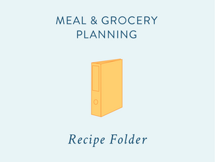 Meal & Grocery Planning: compiling your meal & grocery planners {and a free printable}